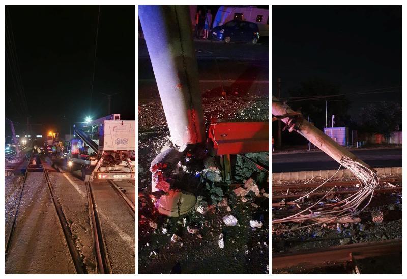 Două zile de întrerupere a circulației tramvaielor pe Calea Radnei în urma accidentului de miercuri seara