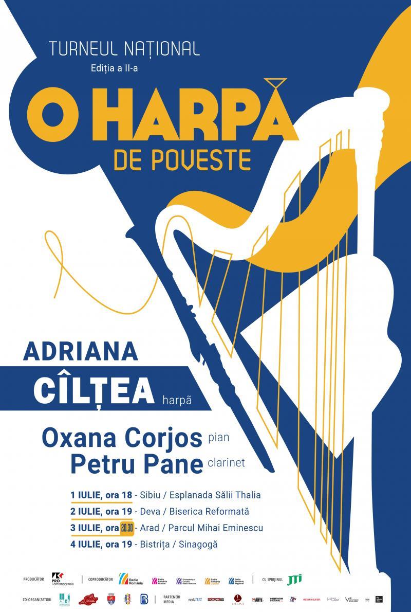 """Din cauza condițiilor meteo nefavorabile, concertul """"O harpă de poveste"""" va avea loc în sala de concerte de la Palatul Cultural"""