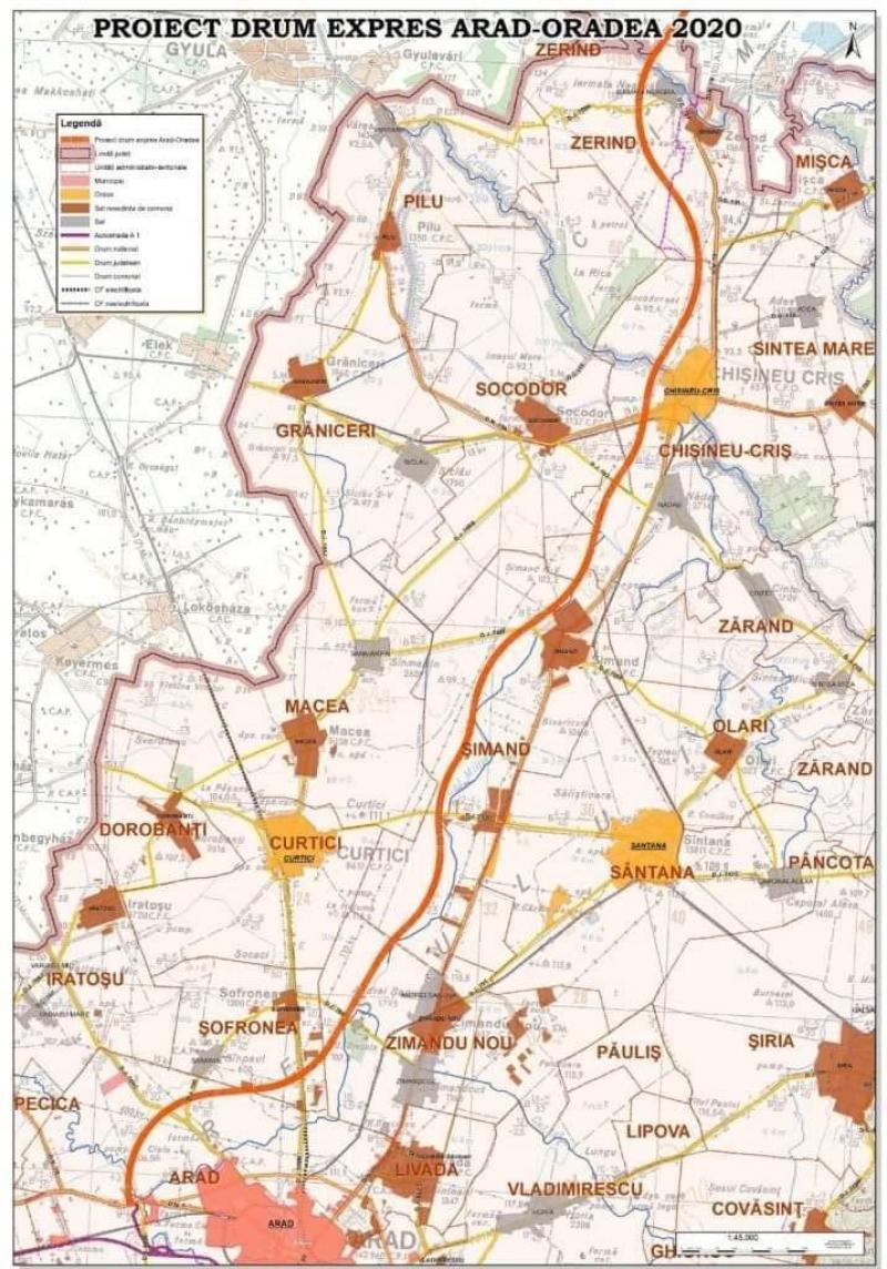 """Doru Bozga: """"Drumul expres Arad-Oradea va lega economiile judeţelor Arad şi Bihor"""""""