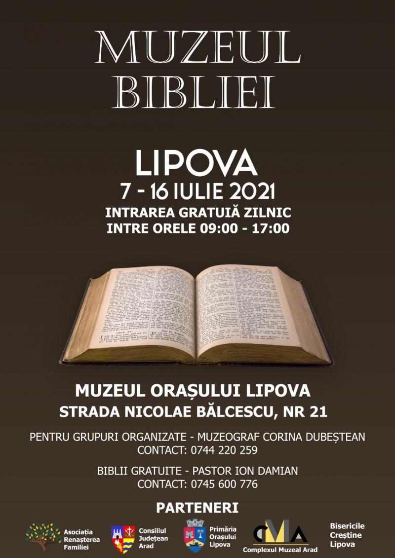 Muzeul Bibliei din 7 iulie la Lipova