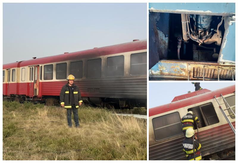 Trenul Brad- Arad a luat foc datorită frecării mecanice
