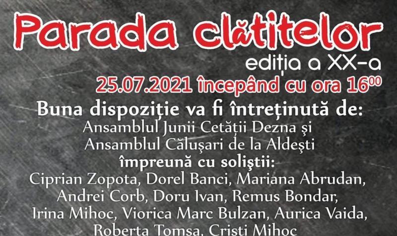 """Ediția a XX-a a """"Paradei Clătitelor"""" la Moneasa în acest weekend cu Mircea Vintilă pe scena Teatrului de Vară"""