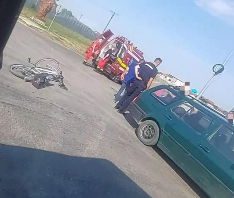 Biciclist de 70 de ani lovit de un autoturism la Vladimirescu condus de un șofer de 70 de ani!