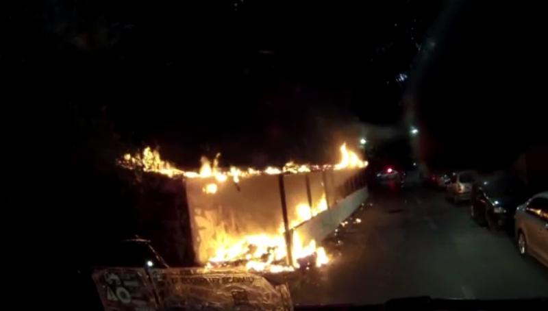 Incendiu la o magazine pe strada Hațeg