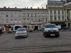 Razie în centrul Aradului pentru verificarea stării tehnice a autovehiculelor