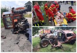 Doi morți într-un accident grav între un tractor și un autoturism la Grăniceri