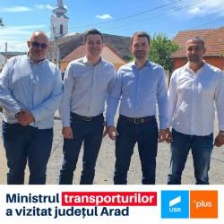 Vizită a ministrului transporturilor, Cătălin Drulă, în județul Arad