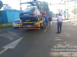 837 de autovehicule au fost ridicate în prima jumătate a anului la Arad din dispoziția polițiștilor locali