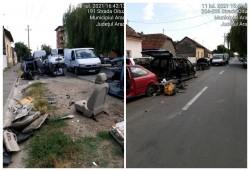 Strada Oituz transformată în schrot auto….a ieșit cu scandal, Poliție….Jandarmi…..