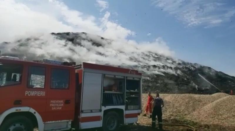 După 5 zile de luptă cu flăcările, incendiul de la groapa de gunoi a fost stins