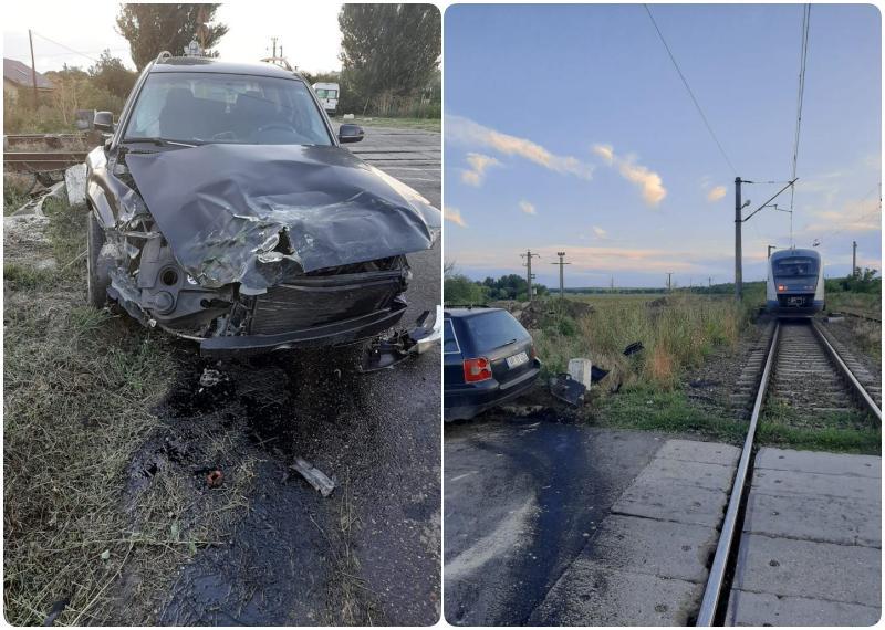 Accident cu victimă la Vinga între un autoturism și trenul Regio Oradea - Timișoara