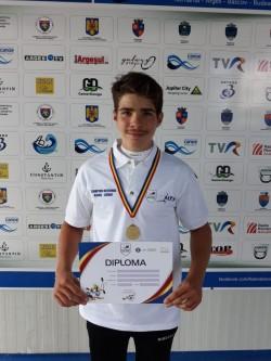 Kaiacistul Tibor Kisvardai, aur și argint la Naţionalele de viteză pentru cadeţi