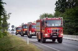 Peste de 100 de pompieri români au plecat în Grecia pentru a ajuta la stingerea incendiilor care amenință inclusiv capitala statului Elen