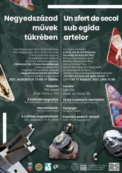 """""""Un sfert de secol sub egida artelor"""" – o expoziție a artiștilor plastici din Pécs"""