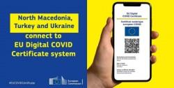 Certificatul digital european poate fi folosit și în Macedonia de Nord, Turcia și Ucraina