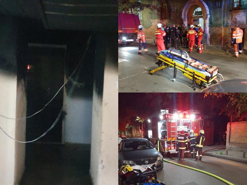 Incendiu provocat de un pacient duminică dimineața la Spitalul Psihiatrie Arad