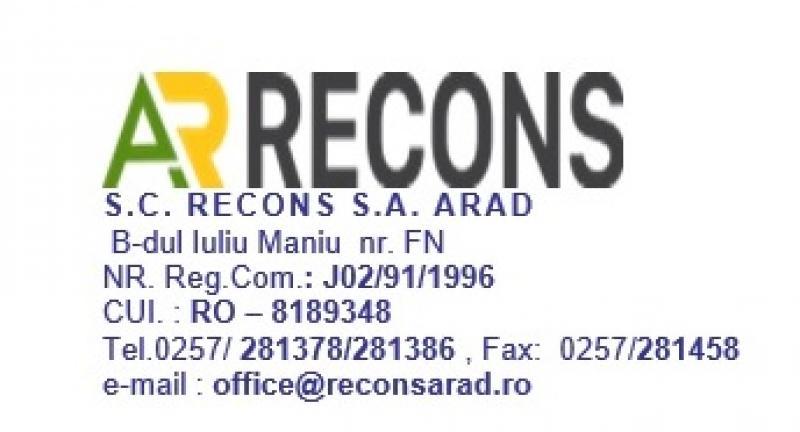 S.C. RECONS S.A. închiriază două spații comerciale