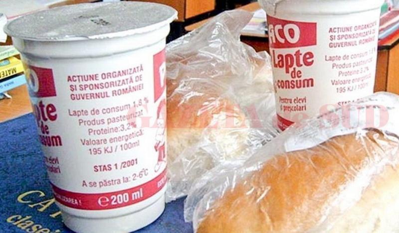 Începe distribuția de lapte, produse de panificație și mere în școlile și grădinițele din județul Arad
