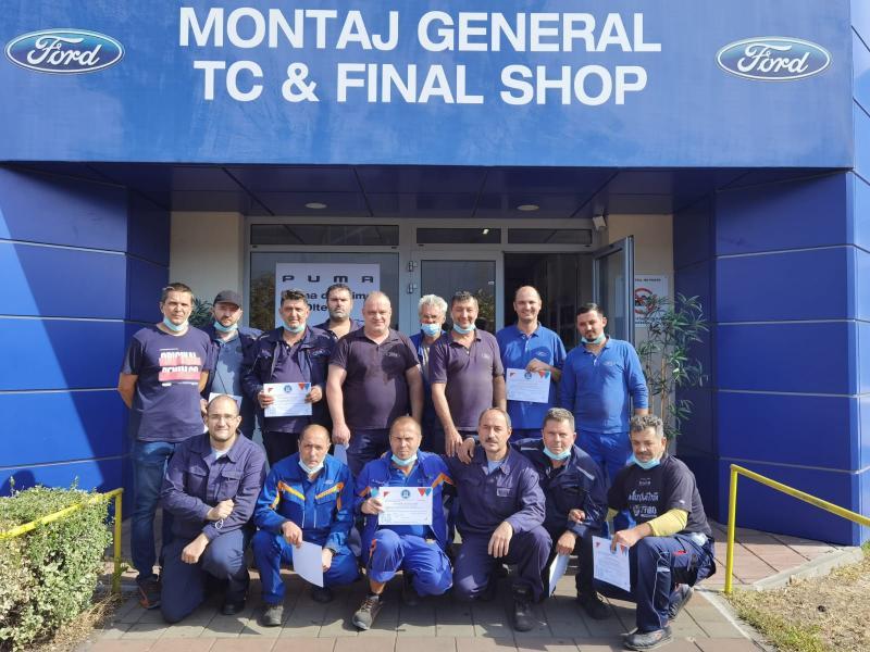 Școala de Sudură Crișan din Arad a organizat un curs de specializare pentru sudorii de la Ford- Craiova