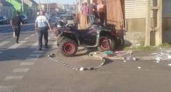 A apărut posesorul ATV-ului abandonat pe Cocorilor după accidentul de sâmbătă....era băut