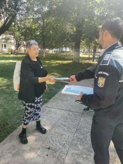 Activitate preventivă a polițiștilor înainte de începerea școlii