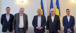 Întrevederea preşedintelui Camerei de Comerţ Arad, domnul Gheorghe Seculici, cu reprezentanții Federaţiei Camerelor de Comerţ Dunărene
