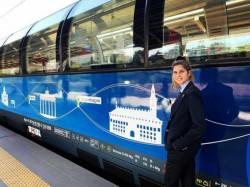 Trenul-simbol al Europei, Connecting Europe Express ajunge la Arad