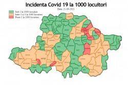 RECORD de infectări în valul 4! 6.989 la nivel national din care 118 în Arad! Municipiul Arad în scenariul GALBEN!