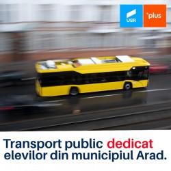 Transport public dedicat elevilor din municipiul Arad
