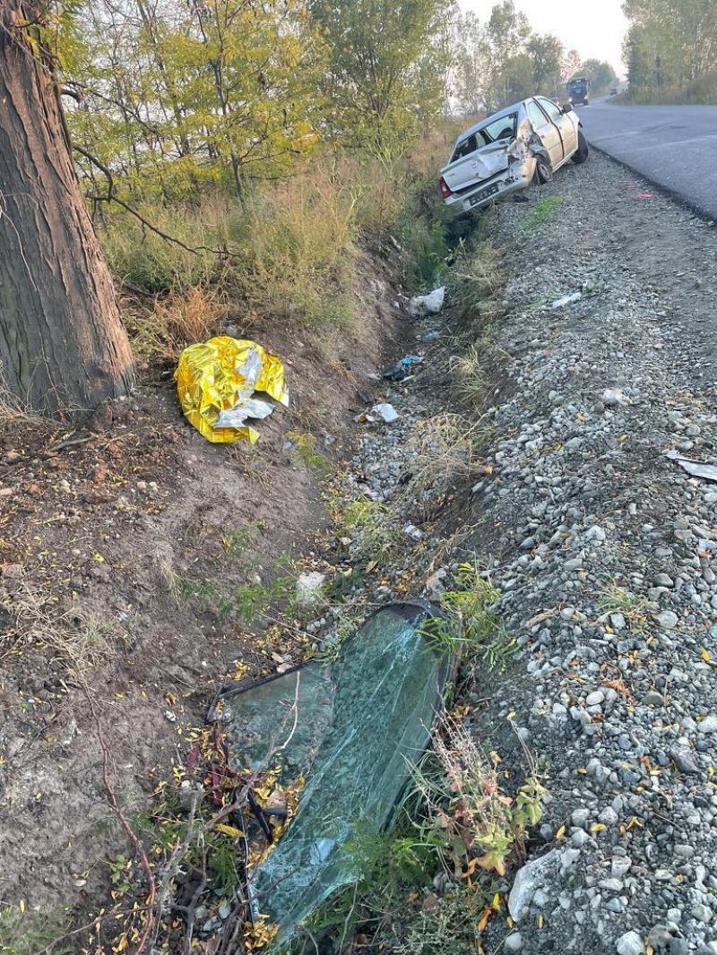 Accident cu rănit grav la ieșirea din Șiria spre Arad