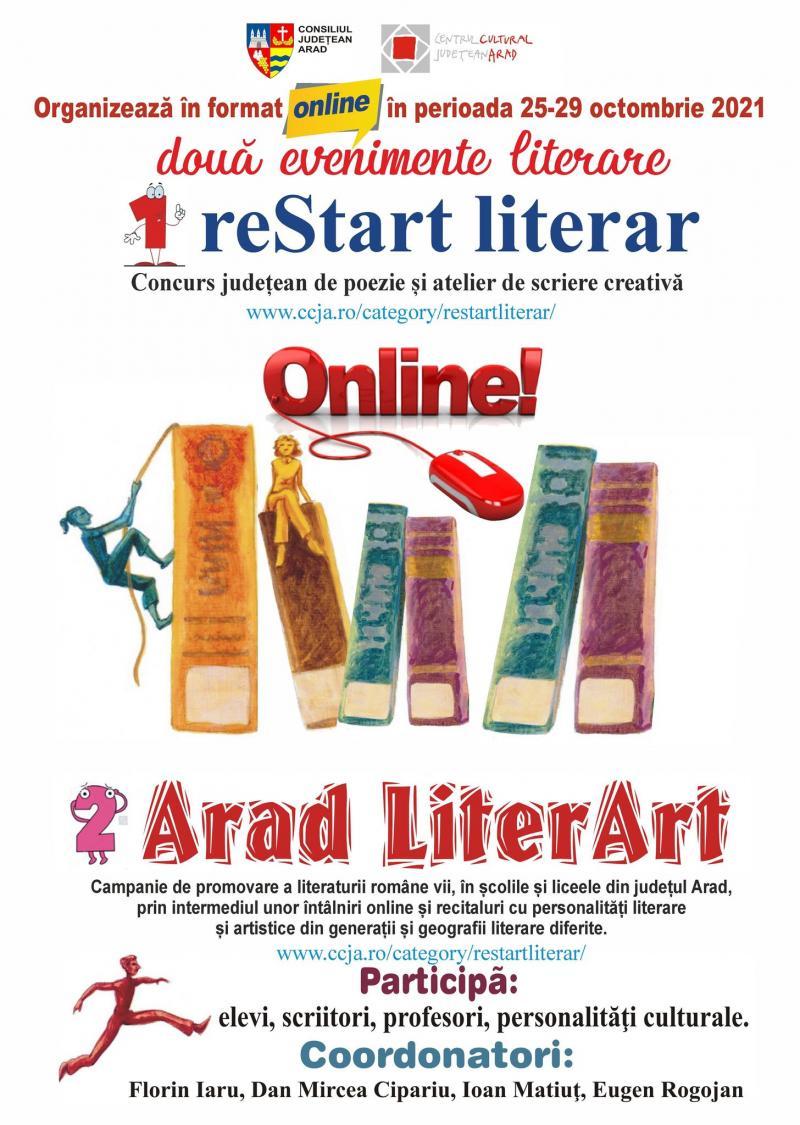 reStart literar și Arad LiterArt, ediția 2021