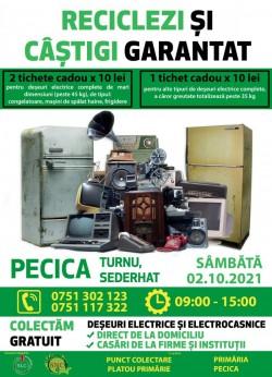 La Pecica va avea loc sâmbătă o acțiune de reciclare de deșeuri de echipamente electrice și electronice. Pecicanii vor primi tichete cadou