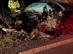 Un tânăr de 20 de ani a adormit la volan și a intrat cu mașina în copac în zona Șagu