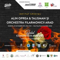 Concert Alin Oprea&Talisman și Orchestra Filarmonicii la Balul Comunității Arădene