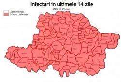 8 decese și 244 de cazuri noi în Arad. Șiștarovăț are rata de infectare cea mai mare din județ: 18,72, în timp ce în municipiu a ajuns la aproape 12!