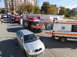 Spitalul Județean Arad pare un spital de campanie de pe linia frontului