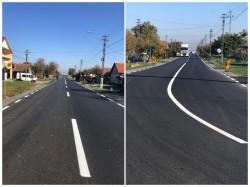 S-au realizat marcajele pe drumul Curtici-Macea-Sânmartin
